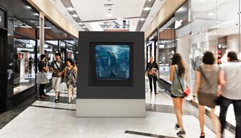 deepframe in Einkaufszentrum