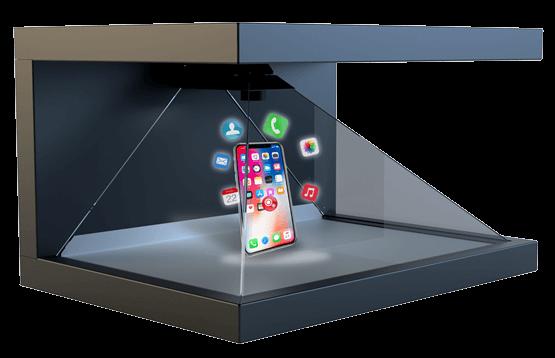 Dreamoc HD3.2 mit realem Produkt (Handy) und Hologrammen